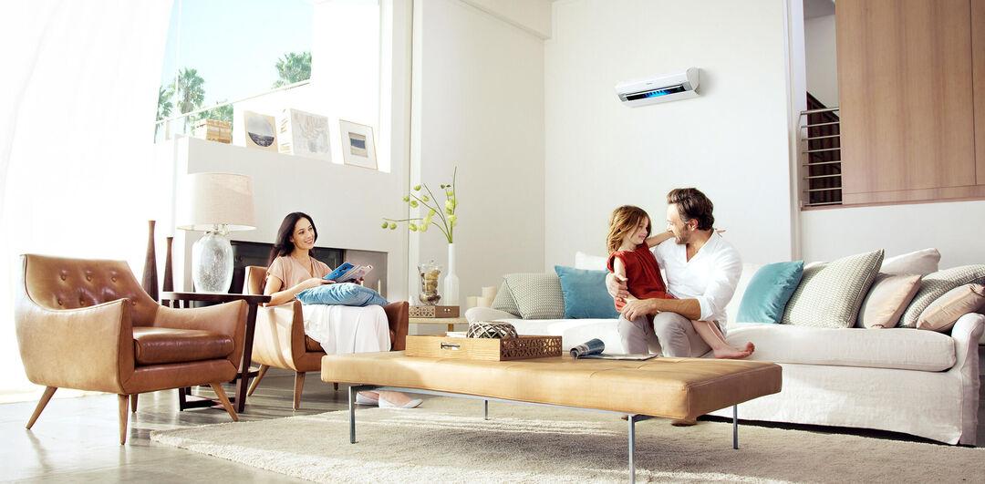 airco split woonkamer familie 3